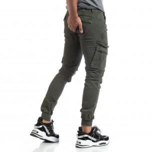 Pantaloni Cargo Jogger verzi pentru bărbați