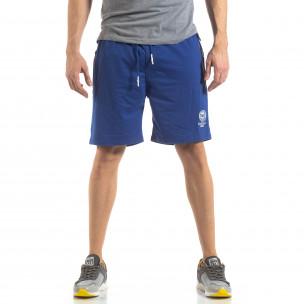 Pantaloni sport scurți în albastru deschis pentru bărbați 2
