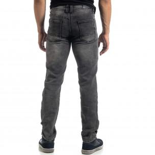 Blugi gri elastici pentru bărbați Regular fit 2