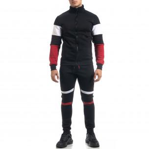 Set sportiv de bărbați negru flaușat Biker style Flex Style 2