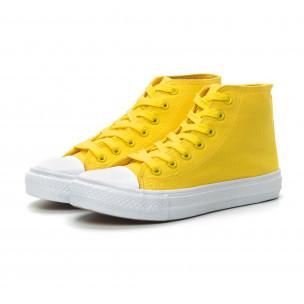 Teniși înalți galbeni Basic pentru dama 2
