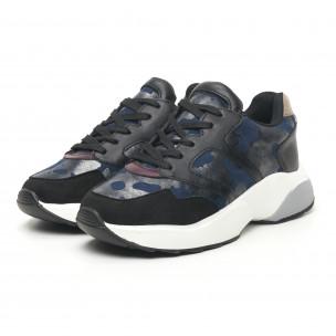 Pantofi sport ușori de dama cu imprimeu metalic 2