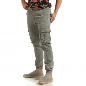 Pantaloni gri cargo jogger pentru bărbați