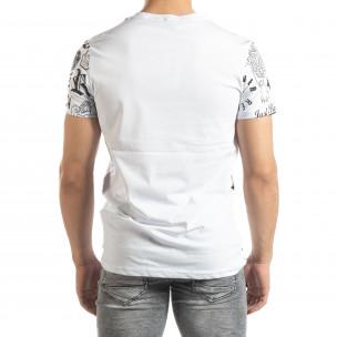 Tricou alb pentru bărbați cu simboluri 2