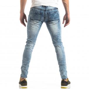 Washed Slim Jeans albaștri pentru bărbați Yes!Boy 2