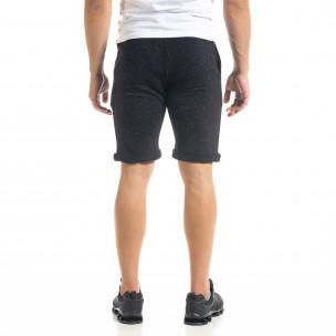 Pantaloni scurți bărbați Alpini Firenze negri  2