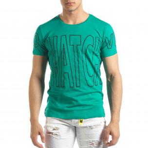 Tricou pentru bărbați verde Watch