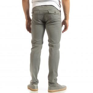 Pantaloni CHINO gri pentru bărbați 2