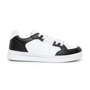 Teniși Skate în alb și negru pentru bărbați Flair