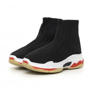 Pantofi sport de dama Slip-on din țesătură tehnică neagră 2