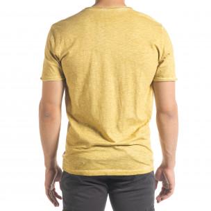 Tricou bărbați Ficko galben  2