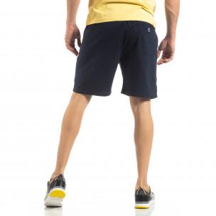 Pantaloni sport scurți în albastru închis de bărbați 2