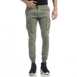 Pantaloni cargo Jogger verzi pentru bărbați  2