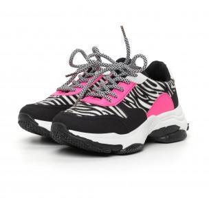 Pantofi sport de dama colorați motiv zebră 2