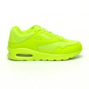 Adidași de bărbați verde neon cu pernă de aer