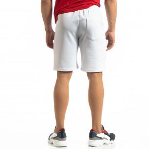 Pantaloni scurți de sport albi GOOD pentru bărbați 2