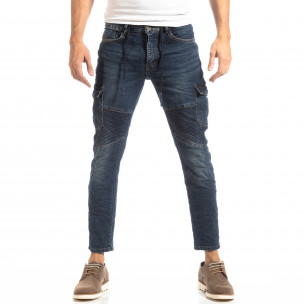 Cargo Jeans albaștri pentru bărbați 2
