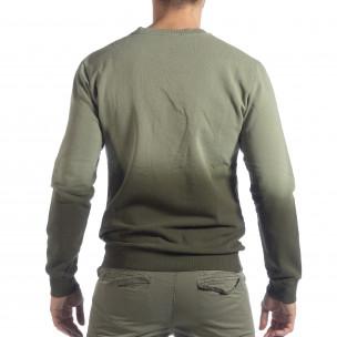 Bluză verde matlasată pentru bărbați  2