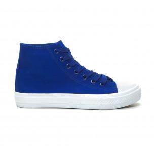 Teniși înalți albaștri Basic pentru dama