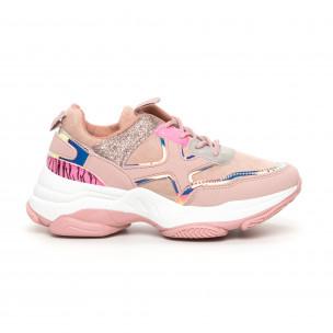Pantofi sport de dama roz Chunky cu accente MIX
