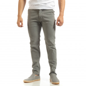 Pantaloni CHINO gri pentru bărbați