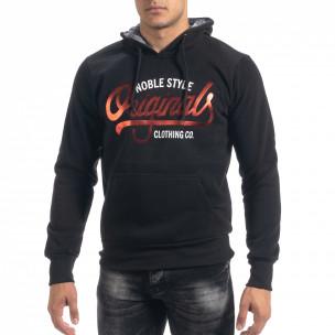 Hanorac hoodie de bărbați negru Originals