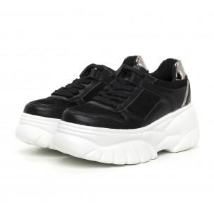 Pantofi sport Chunky negri pentru dama   2