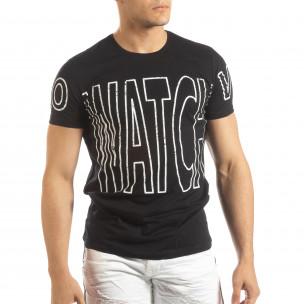 Tricou pentru bărbați negru Watch