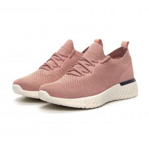 Pantofi sport roz ușori de dama tip șosetă 2