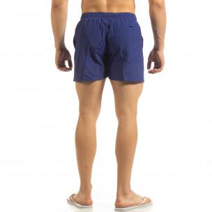 Șort de baie albastru Basic pentru bărbați   2