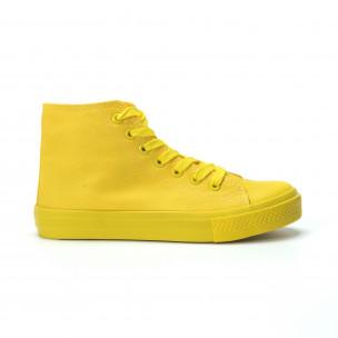 Teniși înalți galbeni pentru dama
