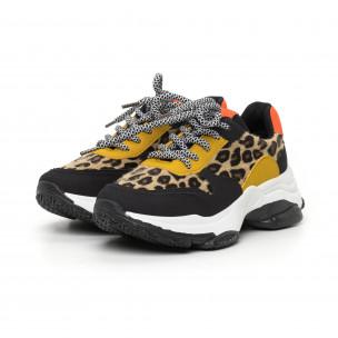Pantofi sport de dama colorați motiv leopard 2