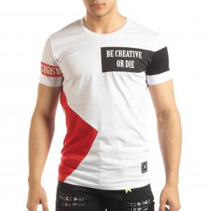 Tricou pentru bărbați alb Be Creative