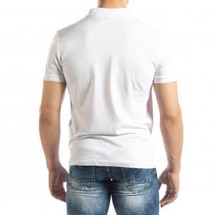 Tricou subțire alb Polo shirt pentru bărbați  2