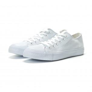 Teniși albi model Basic pentru bărbați  2
