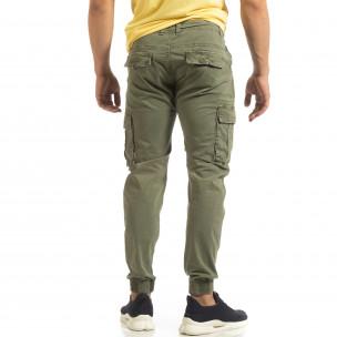 Pantaloni verzi cargo jogger pentru bărbați 2