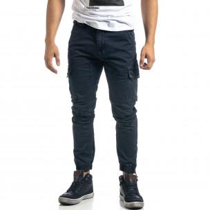 Pantaloni cargo de bărbați albaștri cu fermoare Mythic 2