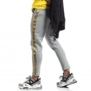 Pantaloni de trening drepți gri pentru bărbați