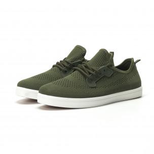 Pantofi sport ușori în verde militar pentru bărbați  2