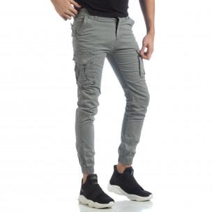 Pantaloni cargo Jogger gri pentru bărbați