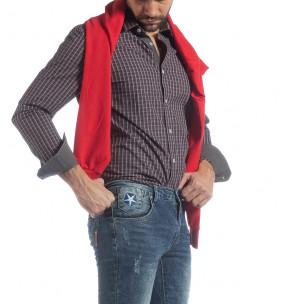 Cămașă pentru bărbați Slim fit din bumbac