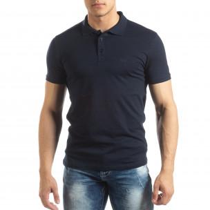 Tricou subțire bleumarin Polo shirt pentru bărbați
