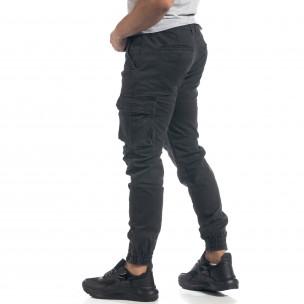 Pantaloni cargo gri flaușați pentru bărbați 2