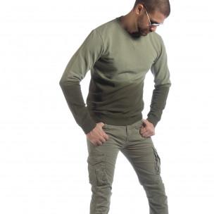 Bluză verde matlasată pentru bărbați