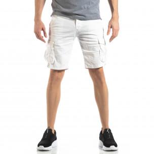 Pantaloni scurți bărbați Y-Chromosome albi 2