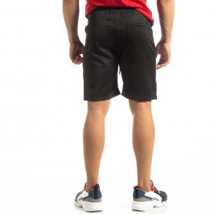 Pantaloni scurți de sport negri GOOD pentru bărbați 2