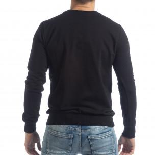 Bluză Basic neagră pentru bărbați 2