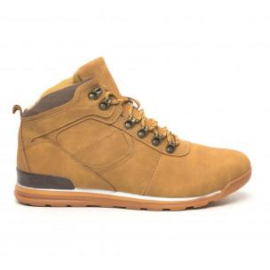 Pantofi de bărbați tip Hiker camel