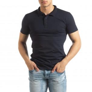 Polo shirt Basic în albastru închis pentru bărbați