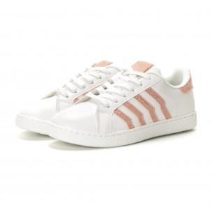 Teniși albi cu accente roz de dama 2